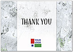 Grey Marble Logo Thank You Card D8048D-V