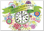 Spring Forward Clock Card D8075D-Y