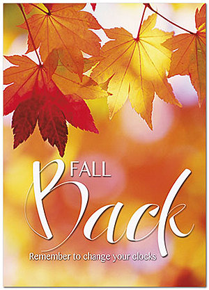 Fall Back Leaves Card D8076D-Y