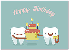 Party Teeth Birthday Card D8078D-Y