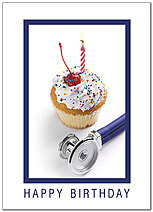 Medical Cupcake Birthday Card D8080D-Y