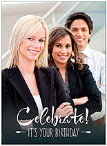 Celebrate Photo Birthday Card D8085U-V