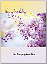 Floral Branch Name Card D8161U-V