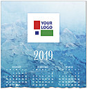 Blue Waters Logo Calendar Card D8169U-4A