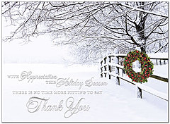 Thank You Wreath Holiday Card H8182S-AAA