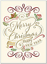 Christmas Calligraphy Card H8187V-AAA