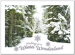 Winter Walk Holiday Card H8189U-AA