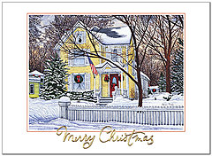 Old Fashioned Christmas Card H8193U-AA