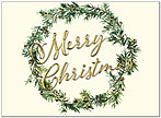 Christmas Wreath Card H8195U-AA