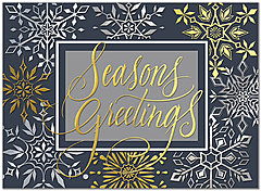 Snowflake Border Holiday Card H8201U-A