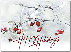 Holiday Berries Card H8202U-A