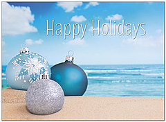 Tropical Ornaments Holiday Card H8203U-A