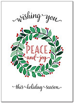 Peace and Joy Holiday Card D8204D-AA
