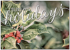 Merry Holidays Greeting Card H8205KW-AA
