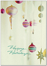 Vintage Ornaments Holiday Card H8206KW-AA
