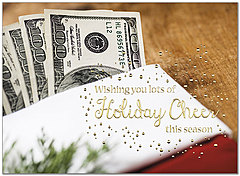 Money Stocking Holiday Card H8209U-AA
