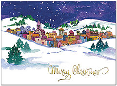 Evening Snow Christmas Card H8210U-AA