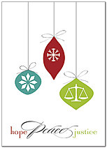 Hope Peace Justice Holiday Card D8219D-AA