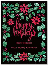 Holly Border Name Card D8235U-4B