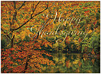 Autumn Trees Thanksgiving Card H8088G-AAA