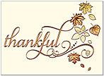 Thankful Leaves Thanksgiving Card H8092V-AAA