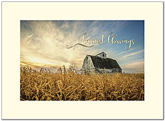 Harvest Blessings Thanksgiving Card H8095U-AA