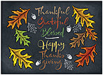 Chalkboard Leaves Thanksgiving Card H8100U-AA