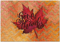 Chevron Leaf Thanksgiving Card H8103KW-AA