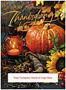 Orange Glow Die Cut Thanksgiving Card H8105U-AAA