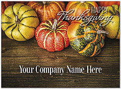 Rustic Pumpkins Name Card D8110U-4B