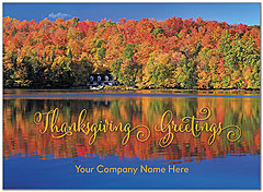 Thanksgiving Reflections Name Card D8112U-4B
