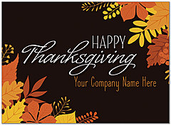 Graphic Leaves Name Card D8118U-4B