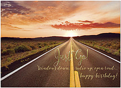 Just Go Birthday Card A8017U-X