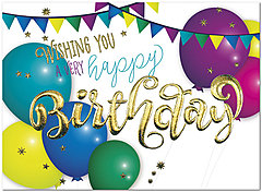 Very Happy Birthday Card A9001G-W