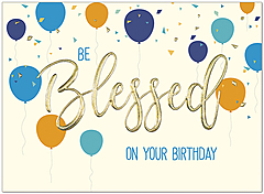 Blessed Balloons Birthday Card A9007V-W