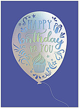 Balloon Sentiment Birthday Card A9009S-W