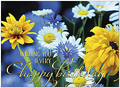 Wildflowers Birthday Card A9013U-X