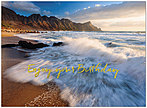 Birthday Waves Card A9014U-X