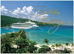 Birthday Cruise Card A9017U-X