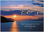 Sunset Psalm Birthday Card A9019U-X