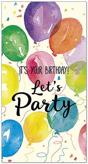 Lets Party Birthday Card A9027T Z