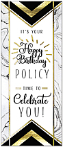 Policy Glitz Birthday Card A9030L-X