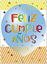 Spanish Birthday Card A9033U-X