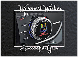 Dashboard Wishes Birthday Card A9035U-X