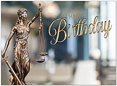 Lady Justice Birthday Card A9036U-X