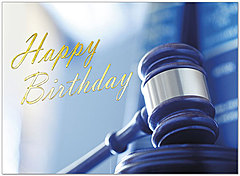 Birthday Gavel Greeting Card A9037U-X