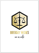Birthday Scales Greeting Card A9038U-X