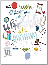 Legal Wishes Birthday Card A9039U-X