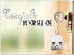 House Key Congratulations Card A9049U-X