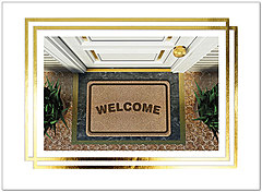 Welcome Mat Greeting Card A9050U-X